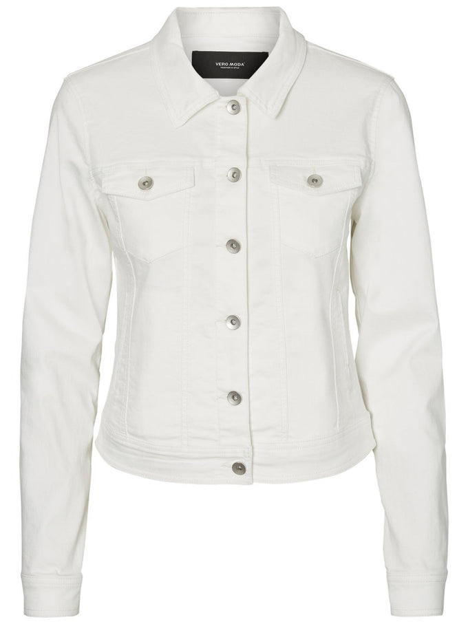 VESTE EN DENIM HOT SOYA BLANC