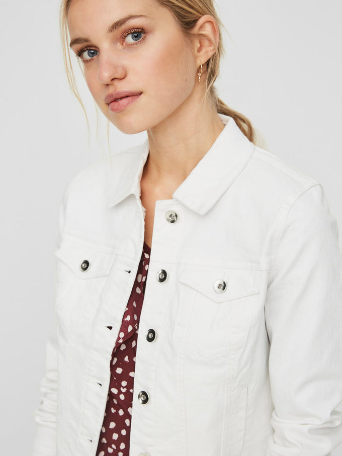 HOT SOYA DENIM JACKET BRIGHT WHITE