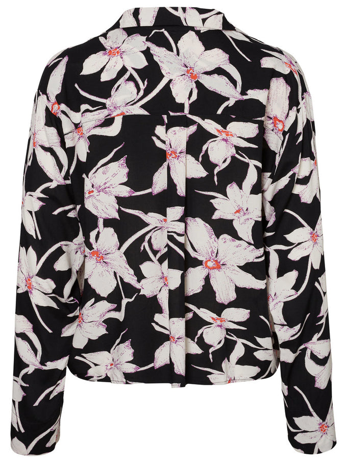 ANNIVERSARY OVERSIZED FLORAL SHIRT BLACK