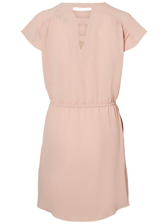 CREPE DRESS MISTY ROSE