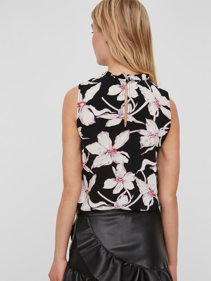 ANNIVERSARY SLEEVELESS BLOUSE BLACK