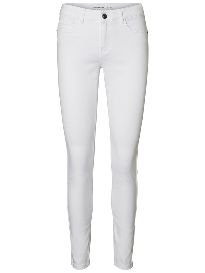 JEANS SEVEN COUPE SHAPE-UP SKINNY À TAILLE MI-HAUTE BLANC