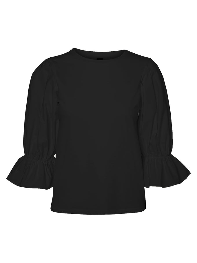 BALLON SLEEVE BLOUSE BLACK