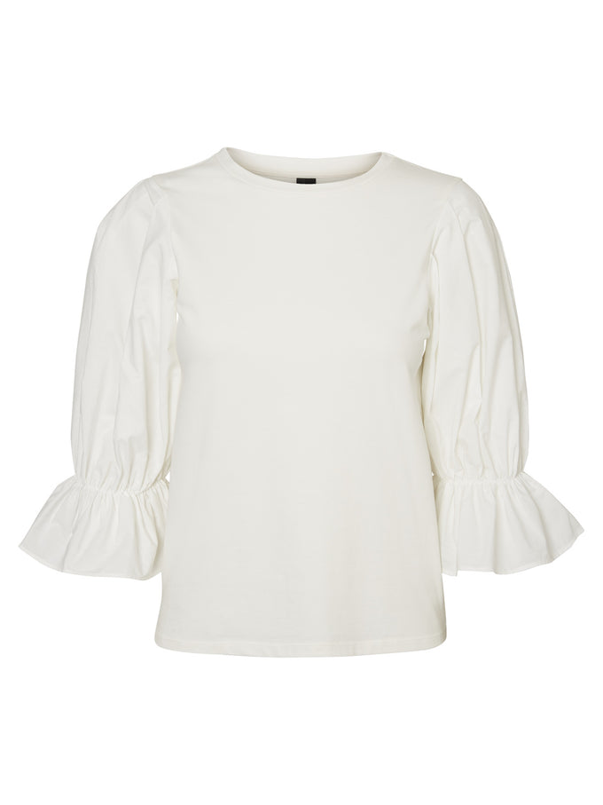 BALLON SLEEVE BLOUSE SNOW WHITE