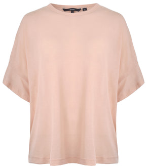 SHORT SLEEVE FRILL T-SHIRT