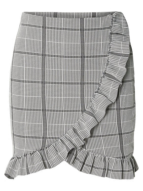SHORT CHECKERED SKIRT
