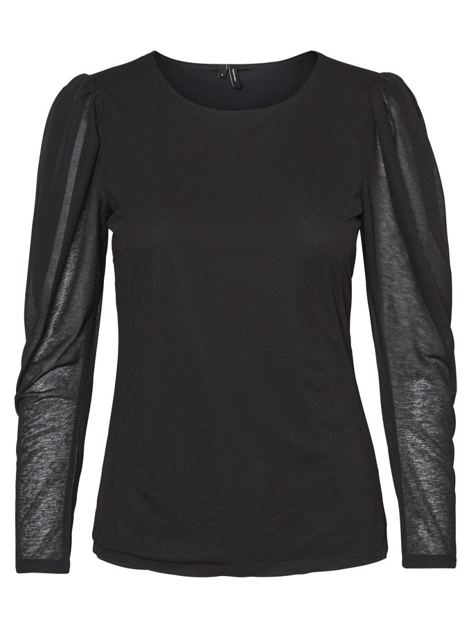 ANNIVERSARY GIGOT SLEEVE TOP BLACK
