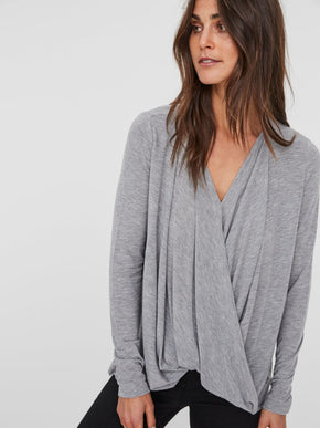 WRAP LONG SLEEVE T-SHIRT