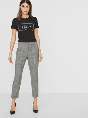 HOUNDSTOOTH ANKLE PANTS