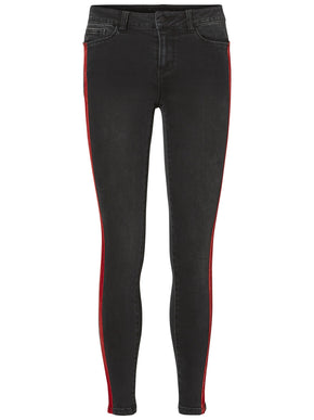 VMSEVEN ANKLE JEANS WITH RED VELVET STRIPE