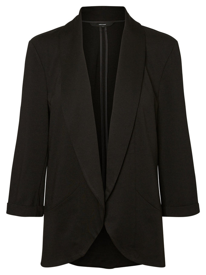UNLINED JERSEY BLAZER BLACK