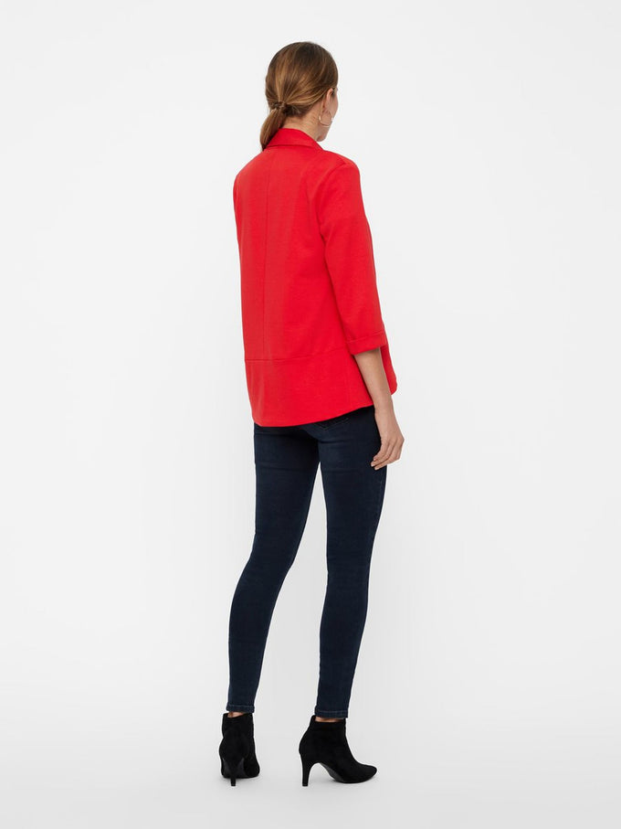 Katey 3/4 Sleeve Blazer CHINESE RED