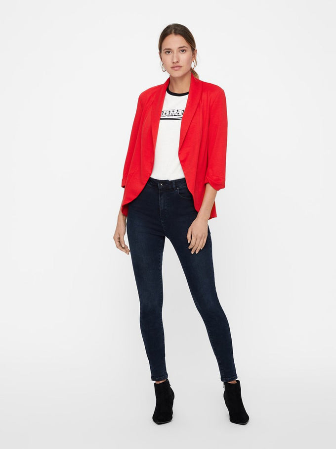 UNLINED JERSEY BLAZER CHINESE RED