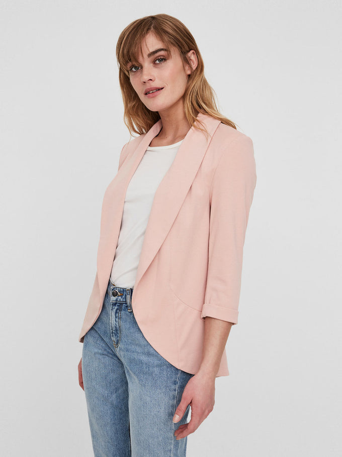 UNLINED JERSEY BLAZER MISTY ROSE