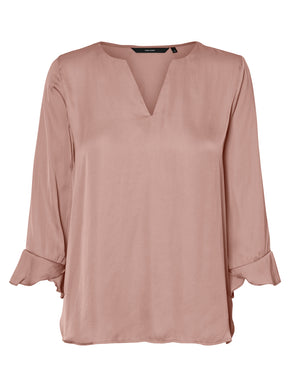 V-NECK SILKY BLOUSE