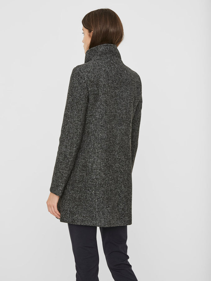 WOOL-BLEND BOUCLÉ JACKET DARK GREY MELANGE