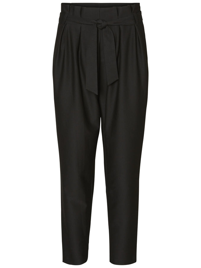 HIGHWAISTED JERSEY PANTS BLACK