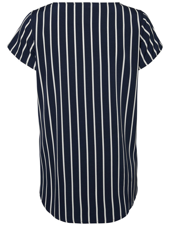 CLASSIC PRINTED BLOUSE SNOW WHITE STRIPES