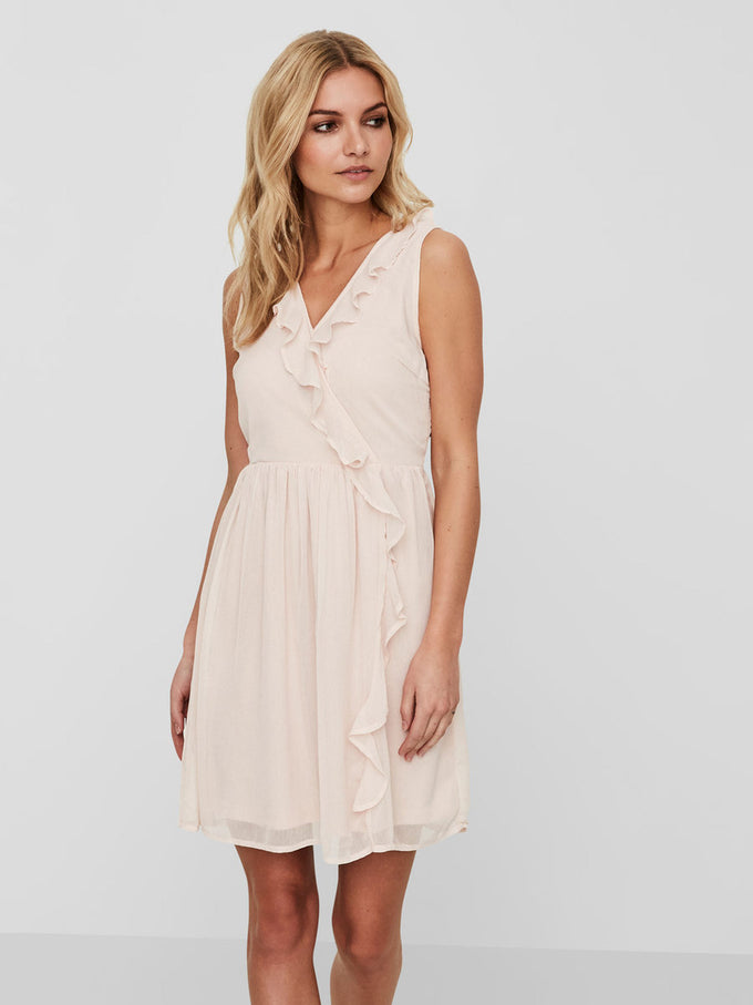 FEMININE COLOURFUL DRESS SEPIA ROSE