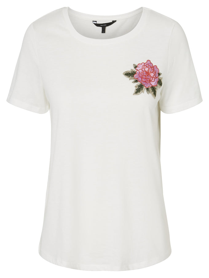 EMBROIDERED T-SHIRT SNOW WHITE