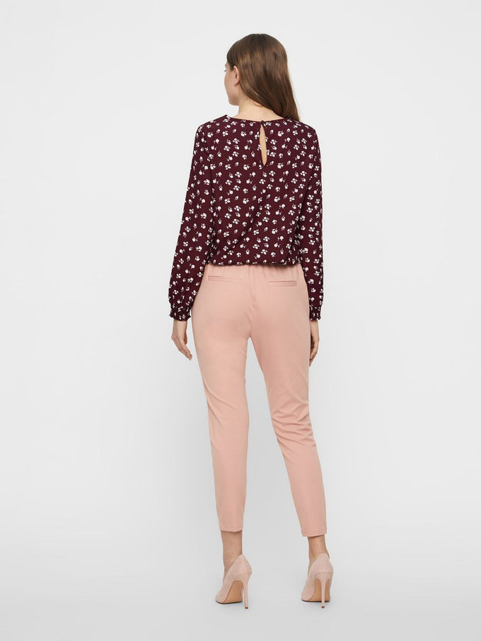 FINAL SALE – CASUAL JERSEY PANTS MISTY ROSE