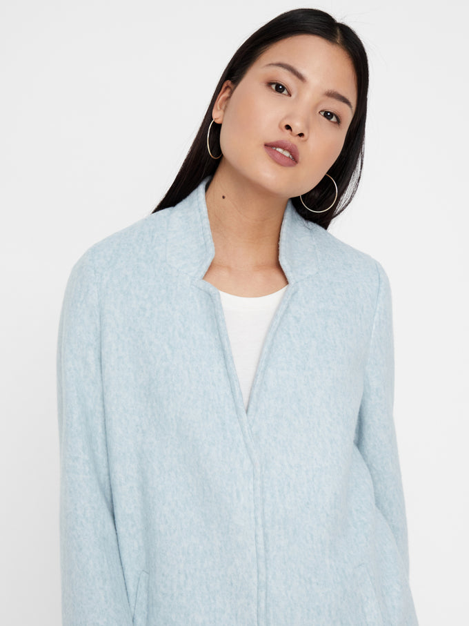 BRUSHED UNLINED JACKET SMOKE BLUE