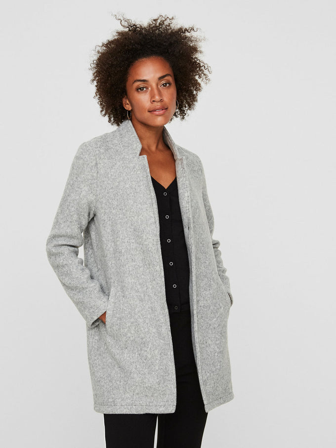 Katrine Brushed Coat LIGHT GREY MELANGE