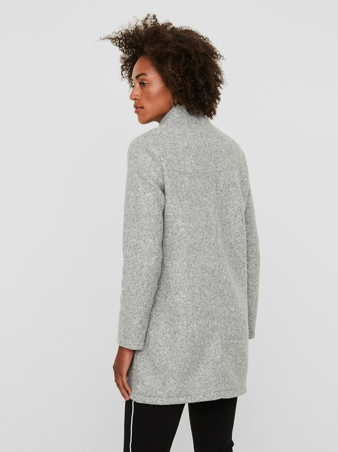 BRUSHED UNLINED JACKET LIGHT GREY MELANGE