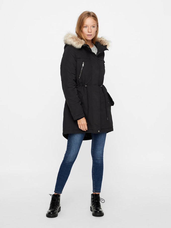 LONG WINTER PARKA BLACK