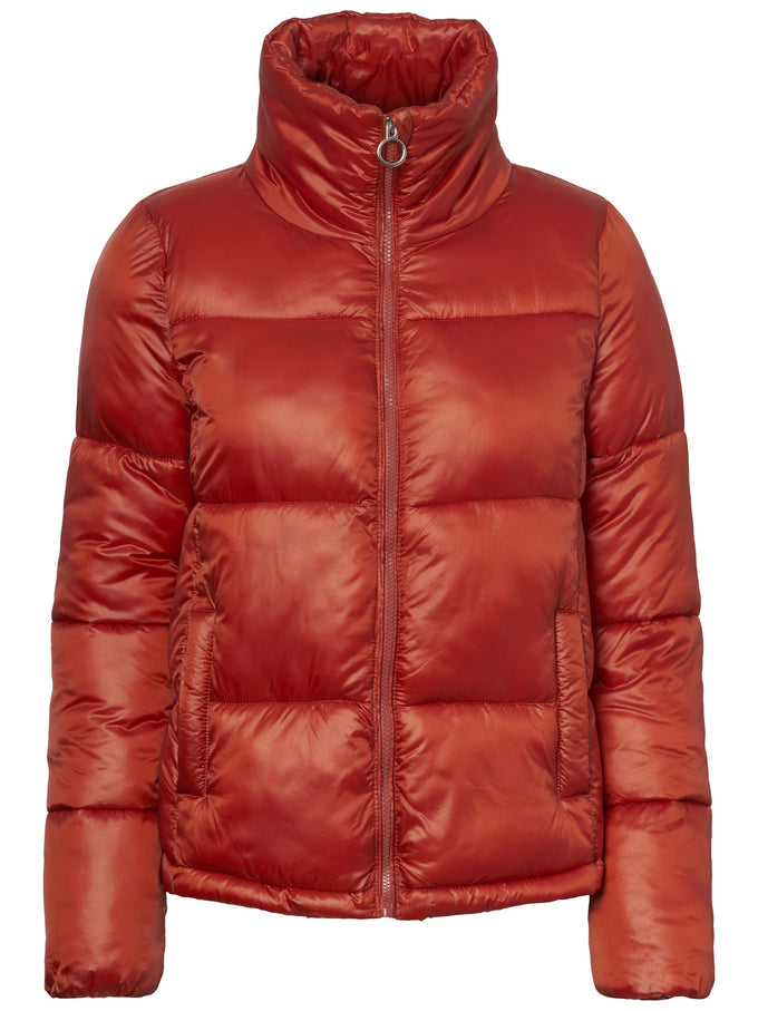 COLOURFUL PUFFER JACKET KETCHUP