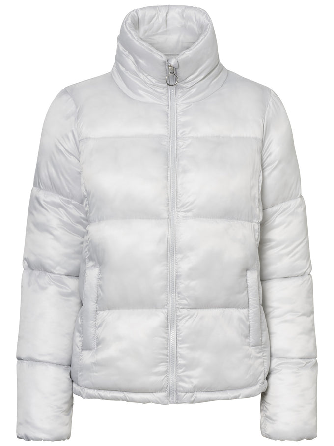 COLOURFUL PUFFER JACKET SILVER