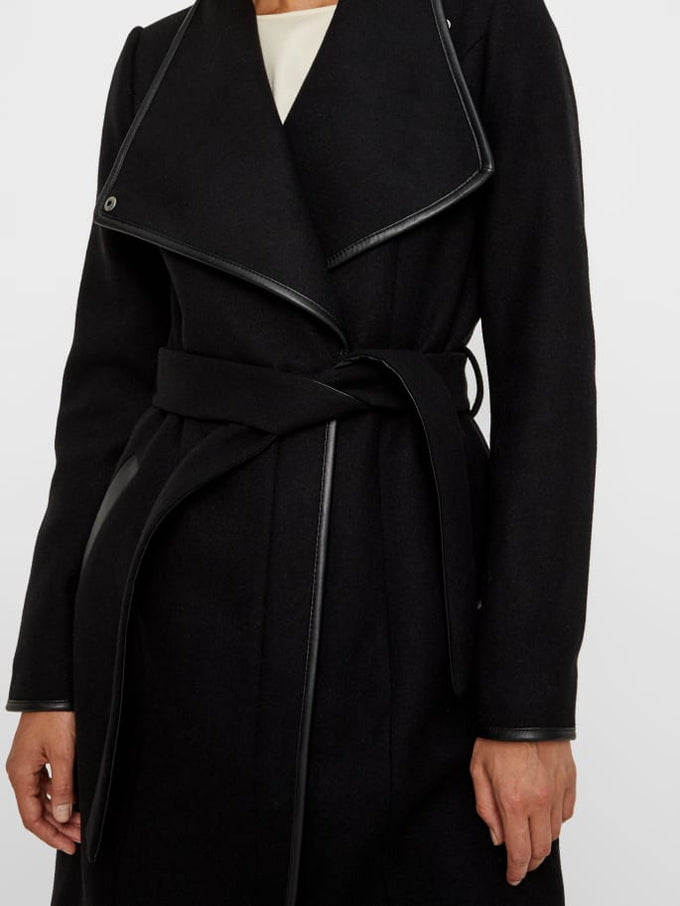Waterfall Wool Coat DARK GREY MELANGE