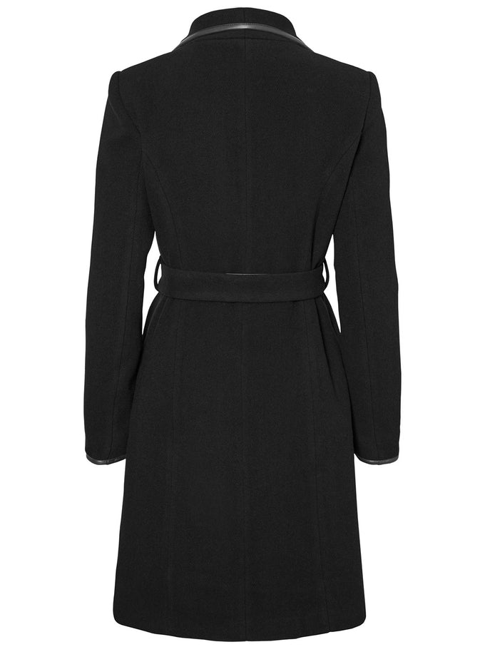 Waterfall Wool Coat BLACK