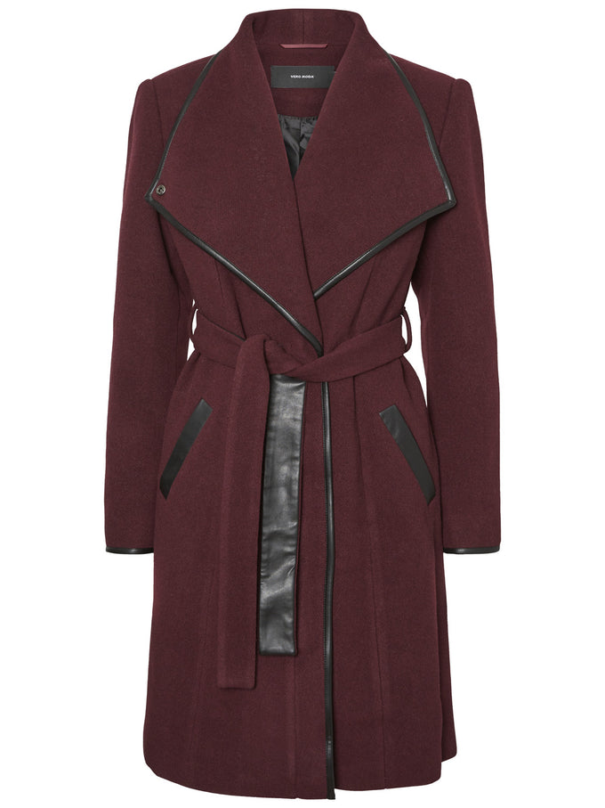 Waterfall Wool Coat WINETASTING