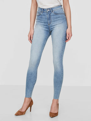 VMSOPHIA SKINNY FIT JEANS WITH RAW EDGES