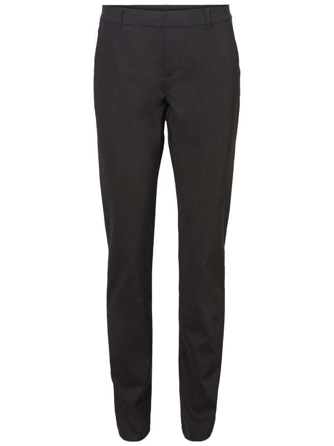 DRESS PANTS WITH WHITE BAND BLACK
