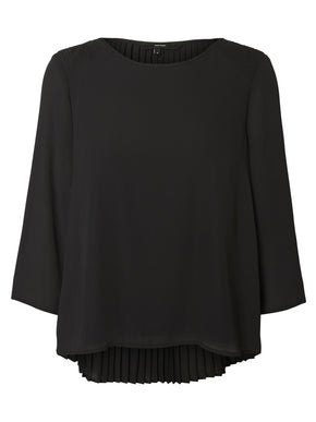 BLOUSE WITH PLEATED DETAIL AT THE BACK