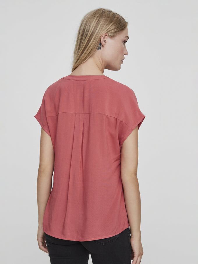 DOLMAN SLEEVE BLOUSE MINERAL RED
