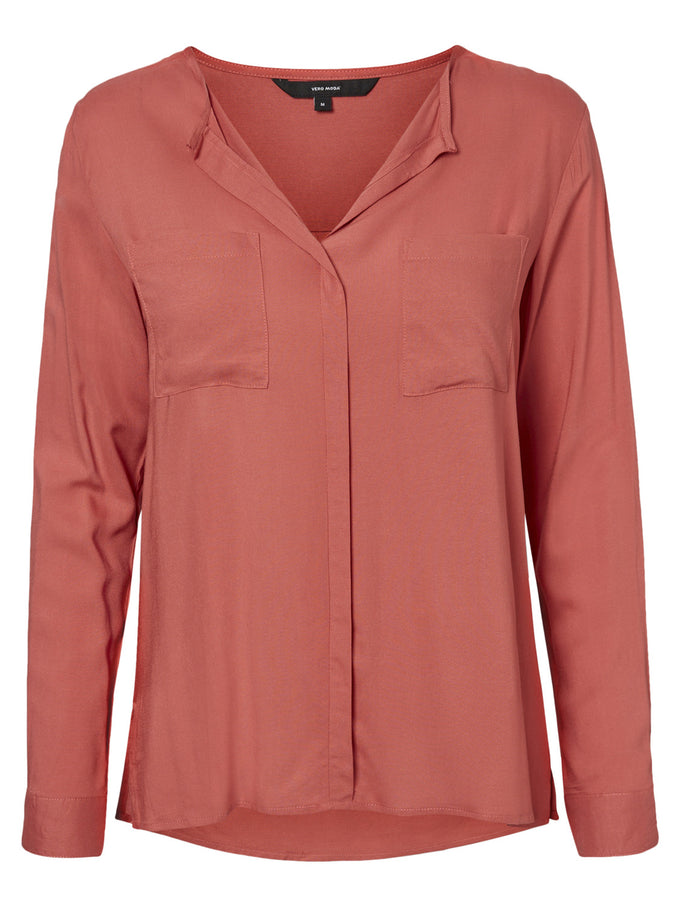 CLASSIC BLOUSE MINERAL RED
