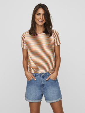 STRIPED LYOCELL T-SHIRT