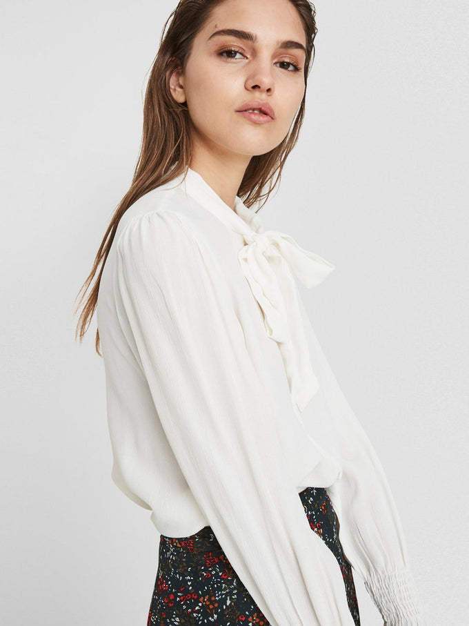CREPE BLOUSE SNOW WHITE