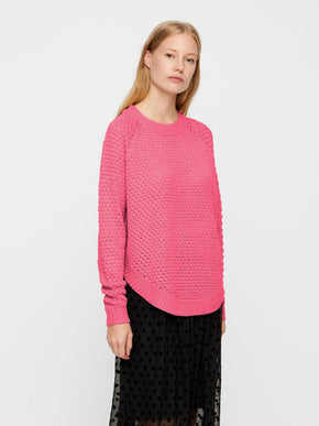 SWEATER WITH CURVED HEMLINE