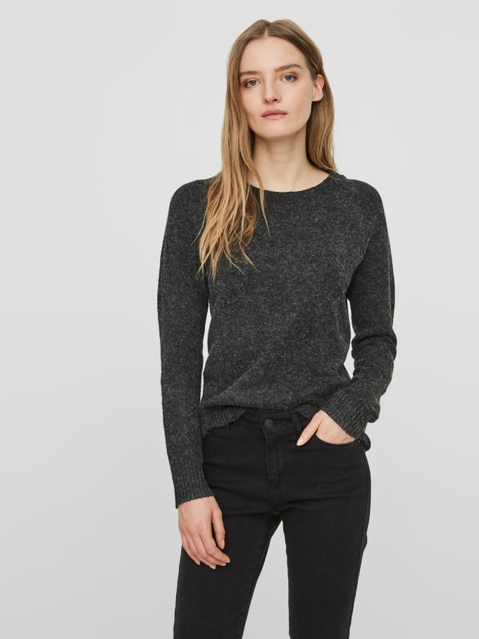 O-Neck Sweater BLACK