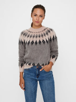 SWEATER WITH GEOMETRIC PATTERNS
