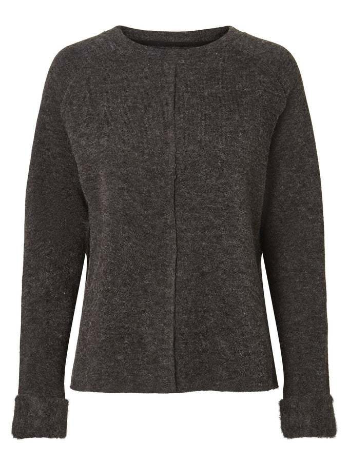 ESSENTIAL SWEATER DARK GREY MELANGE