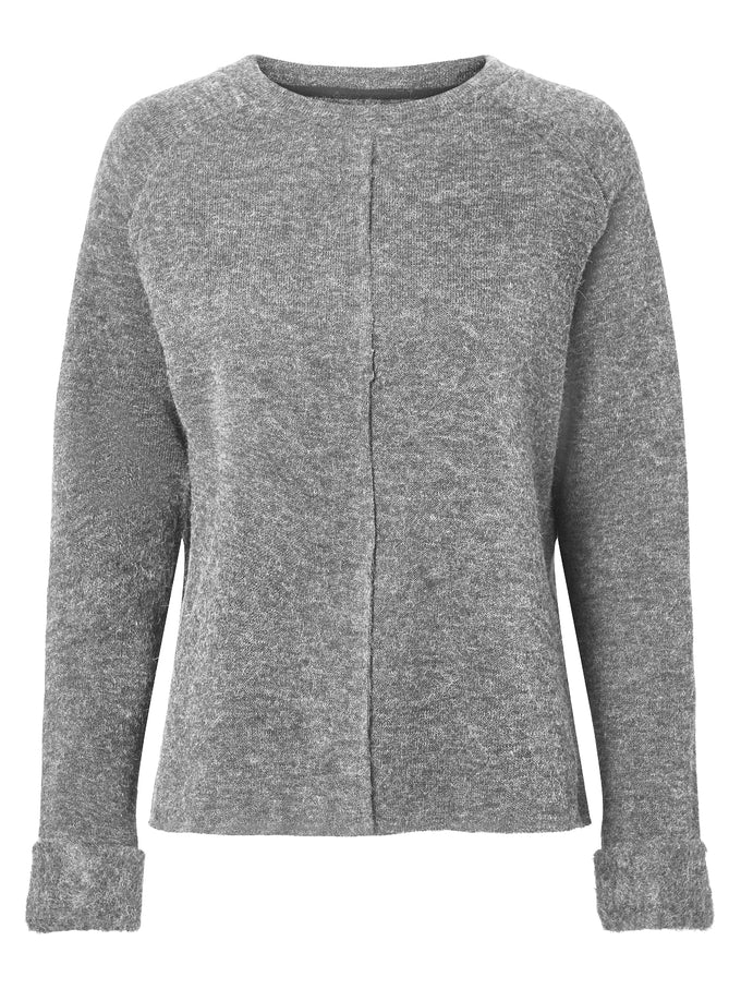ESSENTIAL SWEATER LIGHT GREY MELANGE