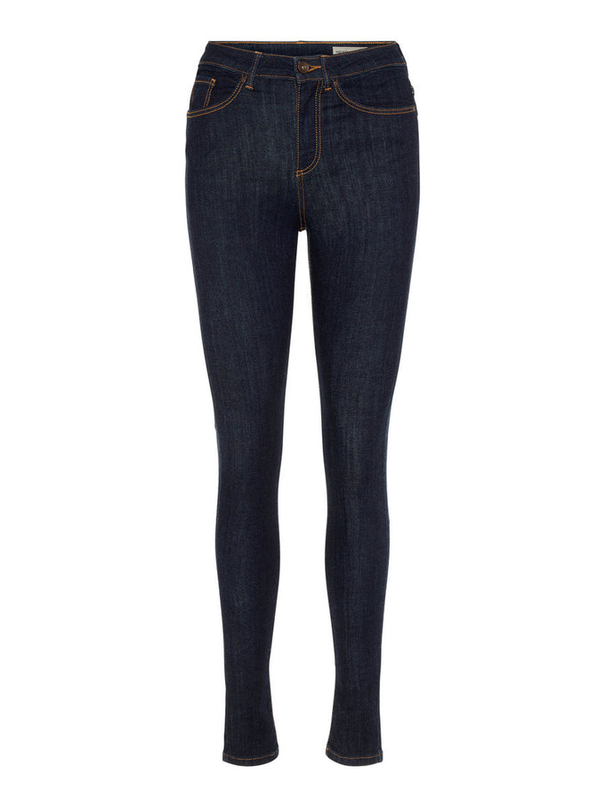 VMSOPHIA HIGH WAIST DARK BLUE SKINNY FIT JEANS DARK BLUE DENIM