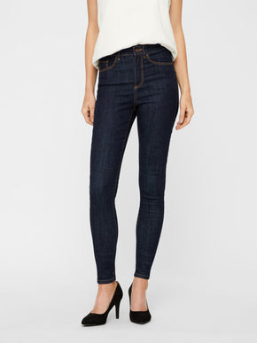 VMSOPHIA HIGH WAIST DARK BLUE SKINNY FIT JEANS