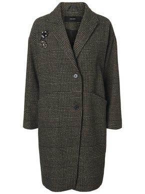 WOOL-BLEND CHECKERED JACKET