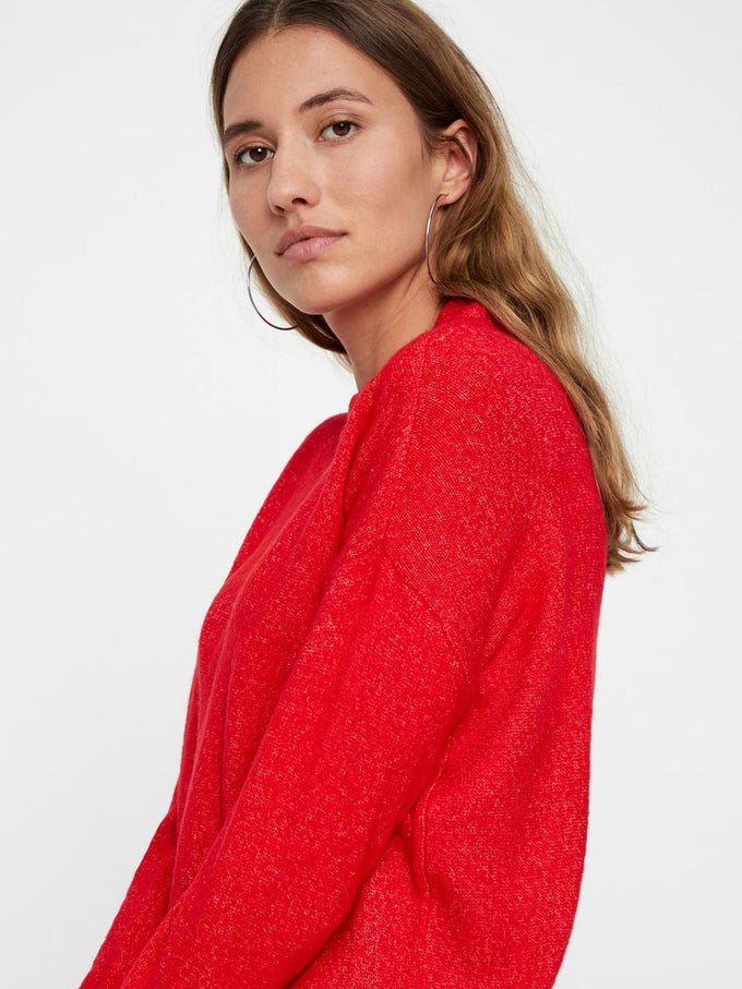 SOLID SWEATER CHINESE RED